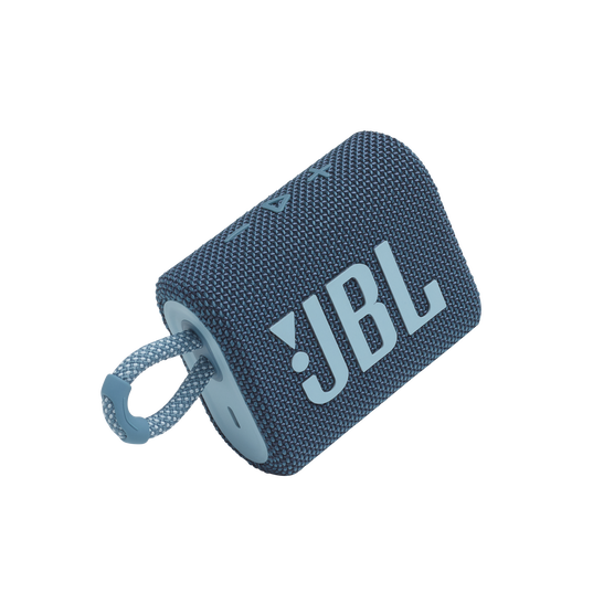 JBL GO 3 - Blue - Portable Waterproof Speaker - Detailshot 1