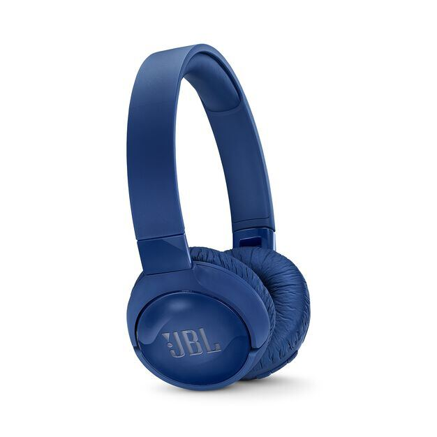 JBL TUNE 600BTNC - Blue - Wireless, on-ear, active noise-cancelling headphones. - Hero