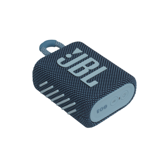 JBL GO 3 - Blue - Portable Waterproof Speaker - Detailshot 3