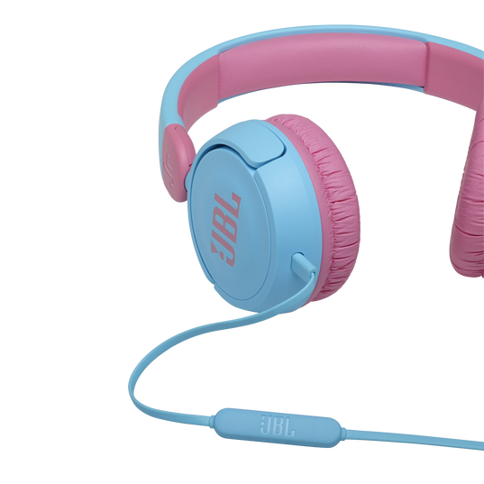 JBL Jr310 - Blue - Kids on-ear Headphones - Detailshot 2