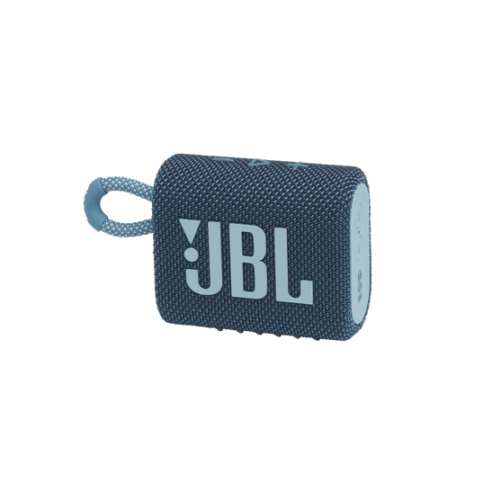 JBL GO 3 - Blue - Portable Waterproof Speaker - Hero