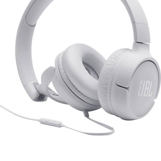JBL TUNE 500 - White - Wired on-ear headphones - Detailshot 3