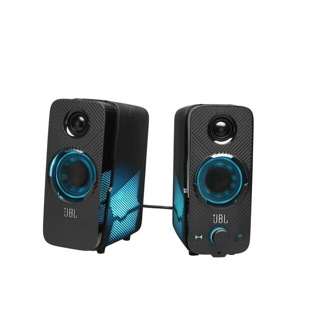 JBL Quantum Duo - Black Matte - PC Gaming Speakers - Hero