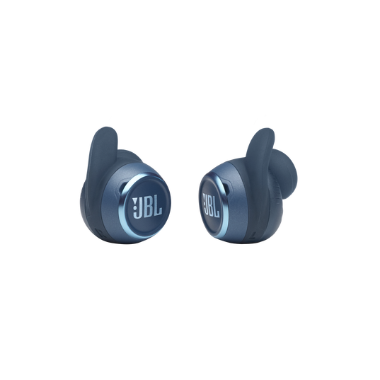 JBL Reflect Mini NC - Blue - Waterproof True Wireless In-Ear NC Sport Headphones - Detailshot 1